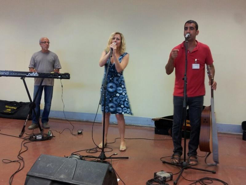 אורי בנאי, דוד קריבושה וזמרת בצוק איתן